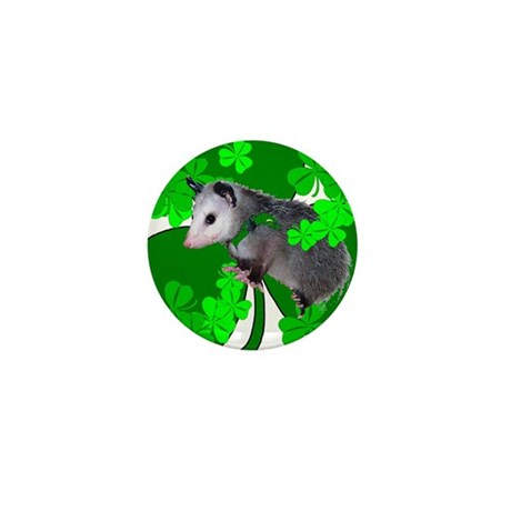 Lucky Irish Possum Mini Button