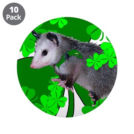 "Lucky Irish Possum 3.5"" Button (10 pack)"
