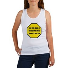 Exercise, Discipline, Affection Women's Tank Top
