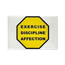 Exercise, Discipline, Affection Rectangle Magnet