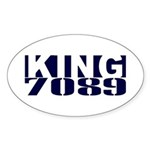 KING Oval Sticker