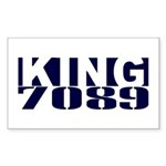 KING Rectangle Sticker