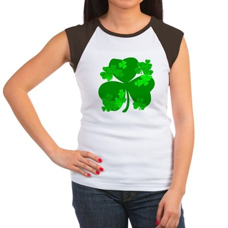 Lucky Irish Shamrocks Women's Cap Sleeve T-Shirt