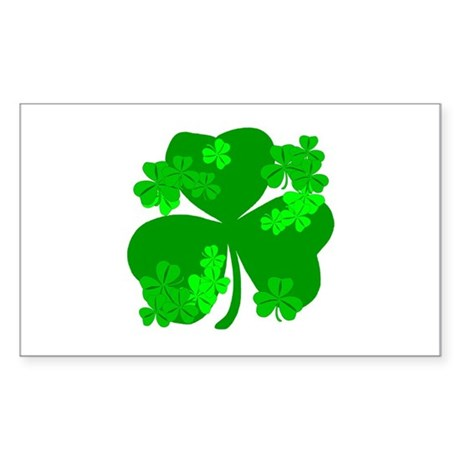 Lucky Irish Shamrocks Rectangle Sticker
