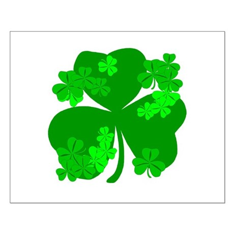 Lucky Irish Shamrocks Small Poster