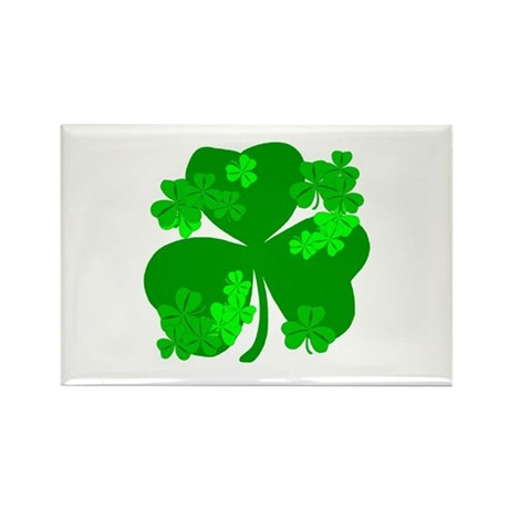 Lucky Irish Shamrocks Rectangle Magnet (100 pack)