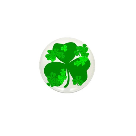 Lucky Irish Shamrocks Mini Button