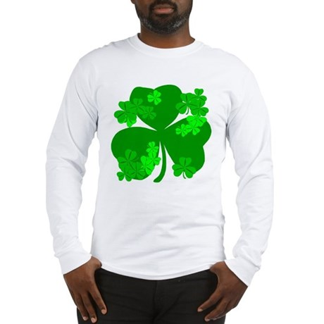 Lucky Irish Shamrocks Long Sleeve T-Shirt