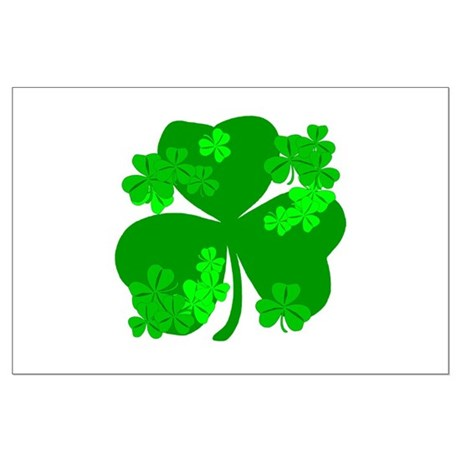 Lucky Irish Shamrocks Large Poster