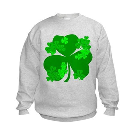 Lucky Irish Shamrocks Kids Sweatshirt