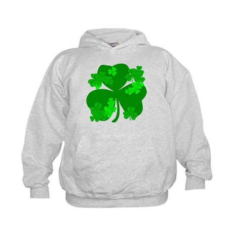 Lucky Irish Shamrocks Kids Hoodie