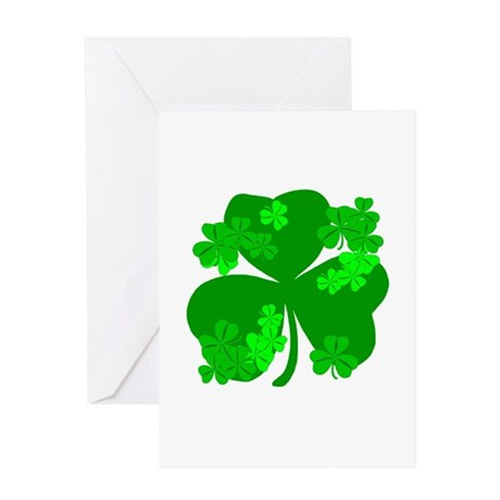 Lucky Irish Shamrocks Greeting Card