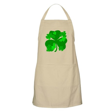 Lucky Irish Shamrocks BBQ Apron