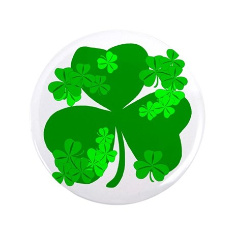 Lucky Irish Shamrocks 3.5&quot; Button