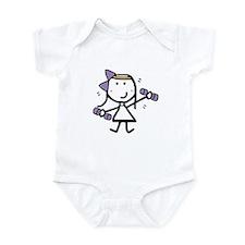 Girl & Exercise Infant Bodysuit