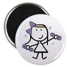"""Girl & Exercise 2.25"""" Magnet (100 pack)"""