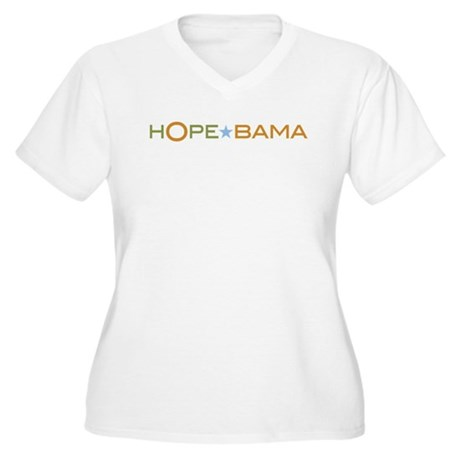 Hope-Bama Women's Plus Size V-Neck T-Shirt