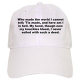 A e housman quotation Baseball Cap