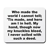 Cool A e housman quotation Mousepad