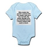 A e housman quotation Infant Bodysuit
