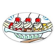 BANANA SPLIT Oval Decal