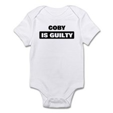 COBY is guilty Infant Bodysuit
