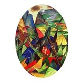 Foxes by Franz Marc Oval Ornament
