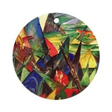 Foxes by Franz Marc Ornament (Round)