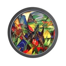 Foxes by Franz Marc Wall Clock
