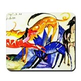 Four Dogs by Franz Marc Mousepad