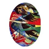 Fable Animals by Franz Marc Oval Ornament