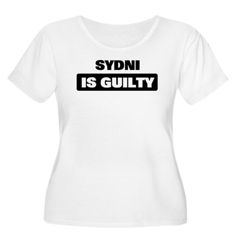 SYDNI is guilty Women's Plus Size Scoop Neck T-Shi