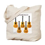 Flamenco guitar tote bag for music or wine