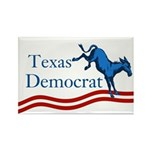 Texas Democrat Rectangle Magnet