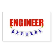Retired Engineer Rectangle Decal