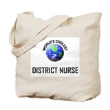 World's Coolest DISTRICT NURSE Tote Bag