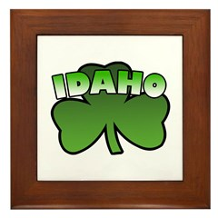 Idaho Shamrock Framed Tile