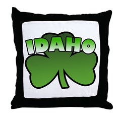 Idaho Shamrock Throw Pillow