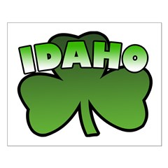 Idaho Shamrock Small Poster