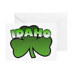 Idaho Shamrock Greeting Cards (Pk of 10)
