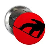 "Snowboarder II Red 2.25"" Button"