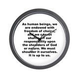 Funny A j toynbee quote Wall Clock