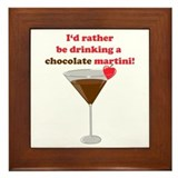 Chocolate Martini Framed Tile