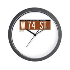 74th Street in NY Wall Clock