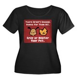 Too Few Homes Spay & Neuter Women's Plus Size Scoo