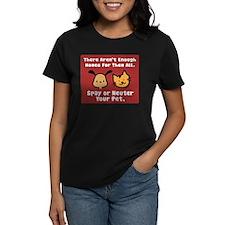 Too Few Homes Spay & Neuter Women's Dark T-Shirt