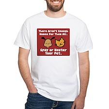 Too Few Homes Spay & Neuter White T-Shirt