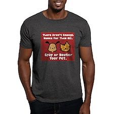 Too Few Homes Spay & Neuter Dark T-Shirt