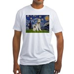 Starry / Fox Terrier (W) Fitted T-Shirt