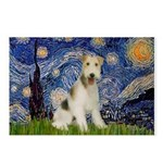 Starry / Fox Terrier (W) Postcards (Package of 8)
